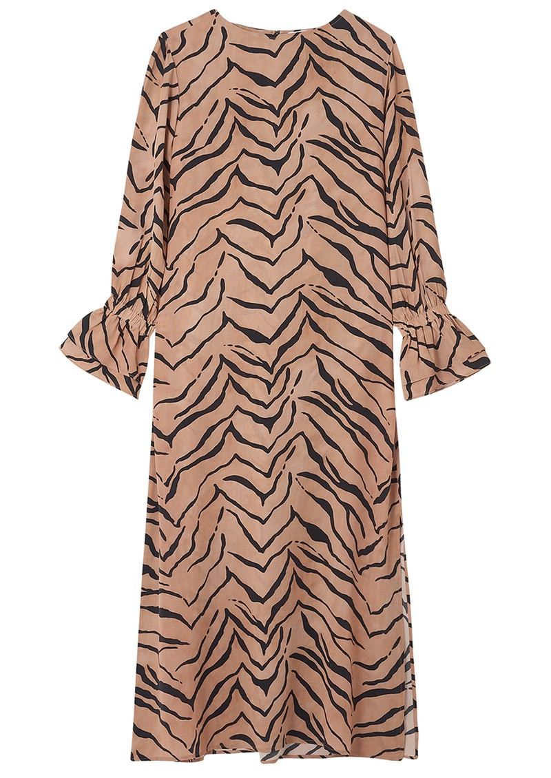 Lily and Lionel Dakota Silk Dress - Tiger Natural main image