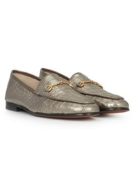 Sam Edelman Loraine Leather Loafer - Croco Pyrite