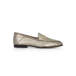 Loraine Leather Loafer - Croco Pyrite