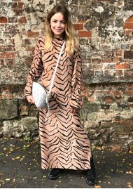 Lily and Lionel Dakota Silk Dress - Tiger Natural