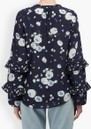 Lily and Lionel Rina Silk Top - Heart Flower Navy