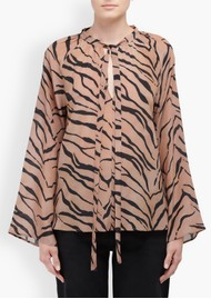 Lily and Lionel Etta Silk Top - Tiger Natural