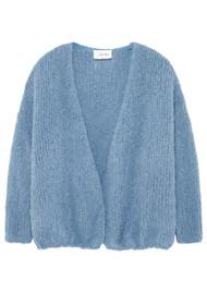American Vintage Boolder Long Sleeve Cardigan - Sky Blue