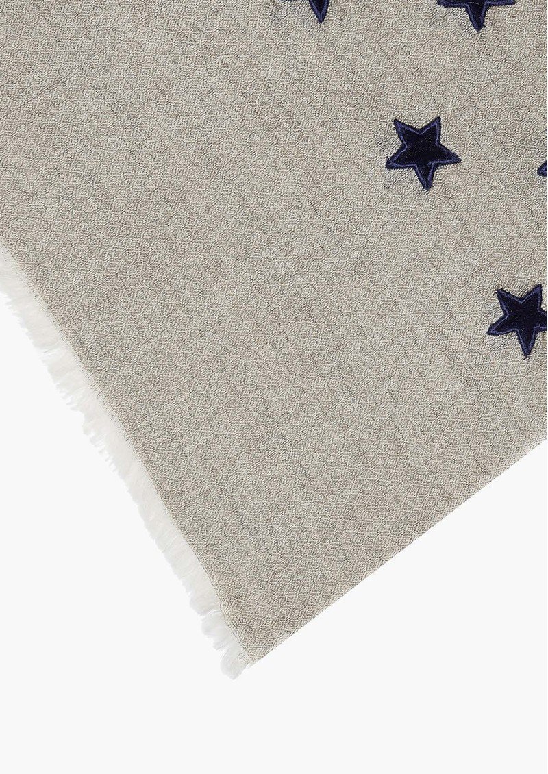 Lily and Lionel Lyra Star Applique Scarf - Grey & Navy main image