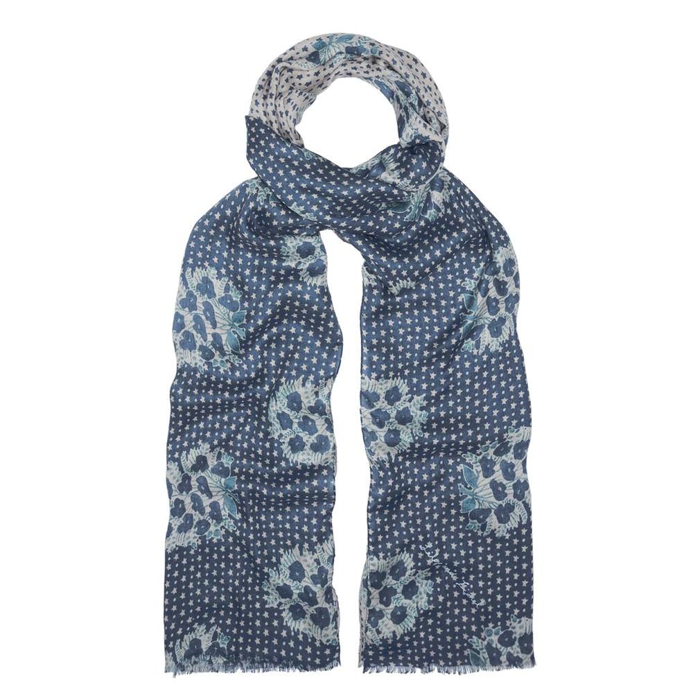 Batik Star Scarf - Blue