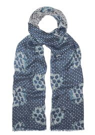 Lily and Lionel Batik Star Scarf - Blue