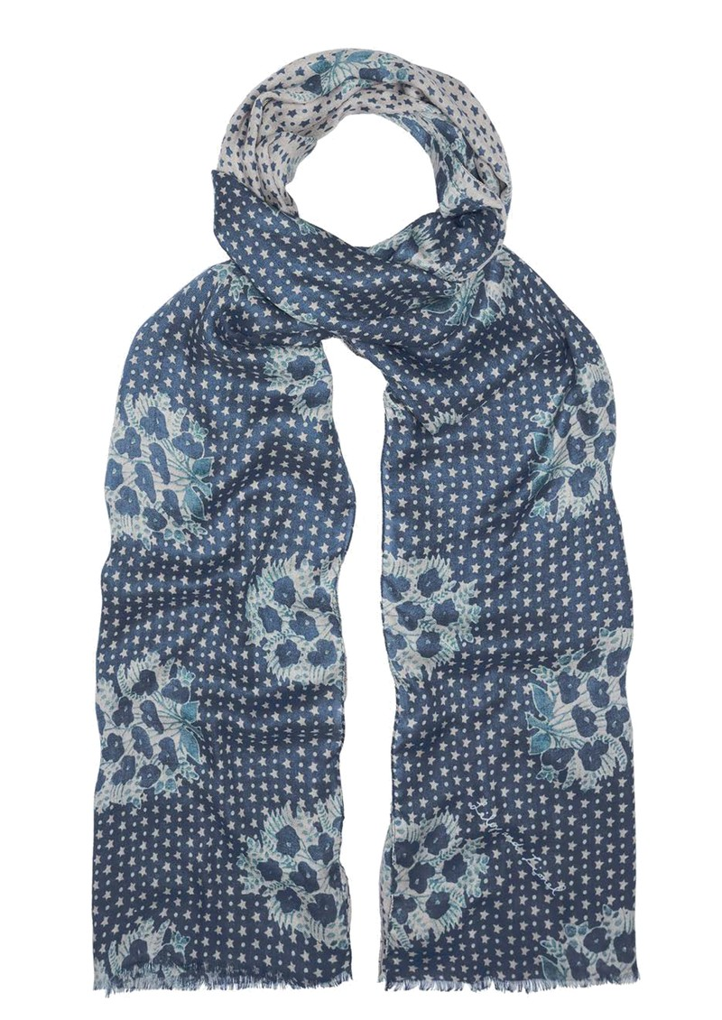 Lily and Lionel Batik Star Scarf - Blue main image
