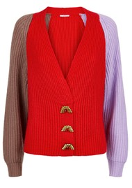 OLIVIA RUBIN Tally Cardigan - Red Mix