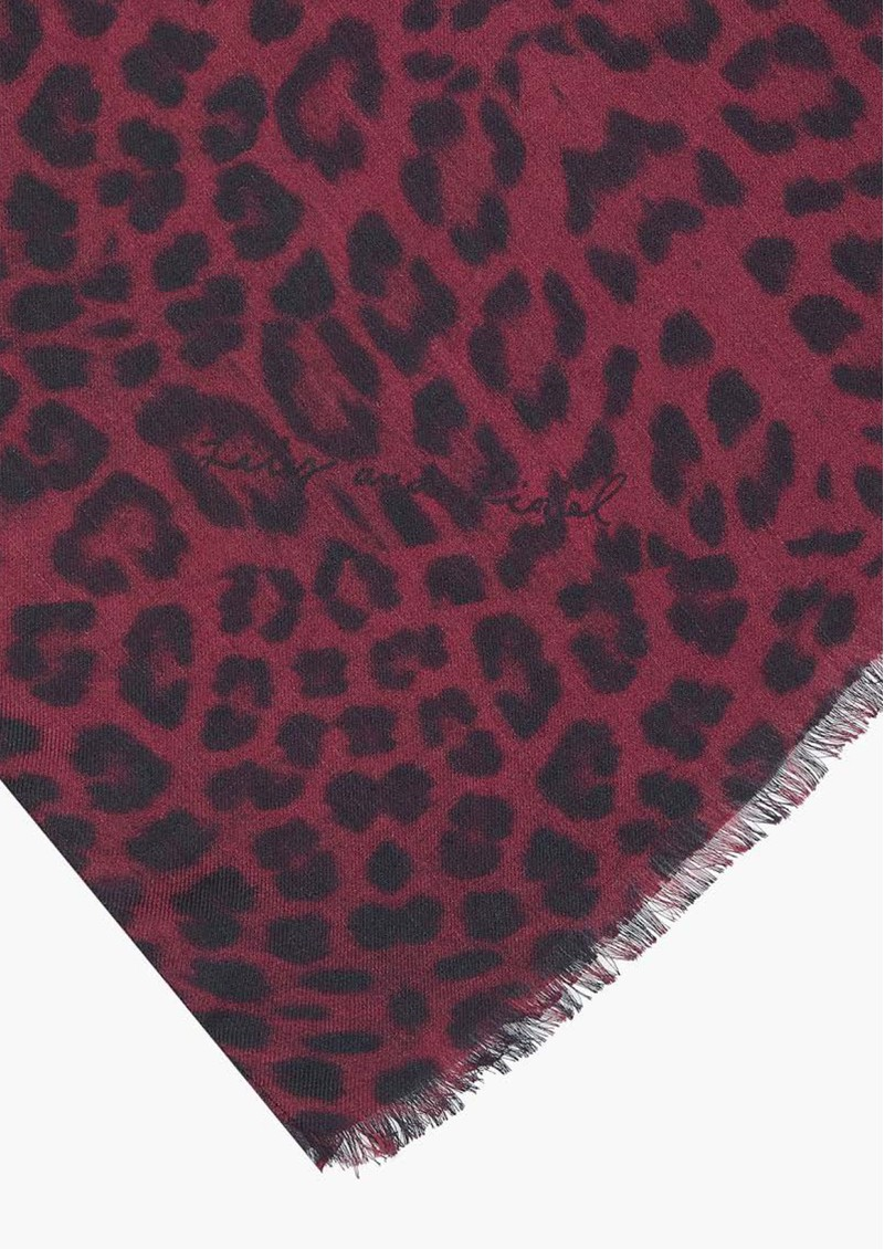 Lily and Lionel Safari Scarf - Burgundy main image