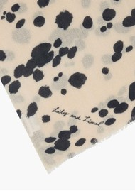 Lily and Lionel Dalmation Scarf - Black & Ivory