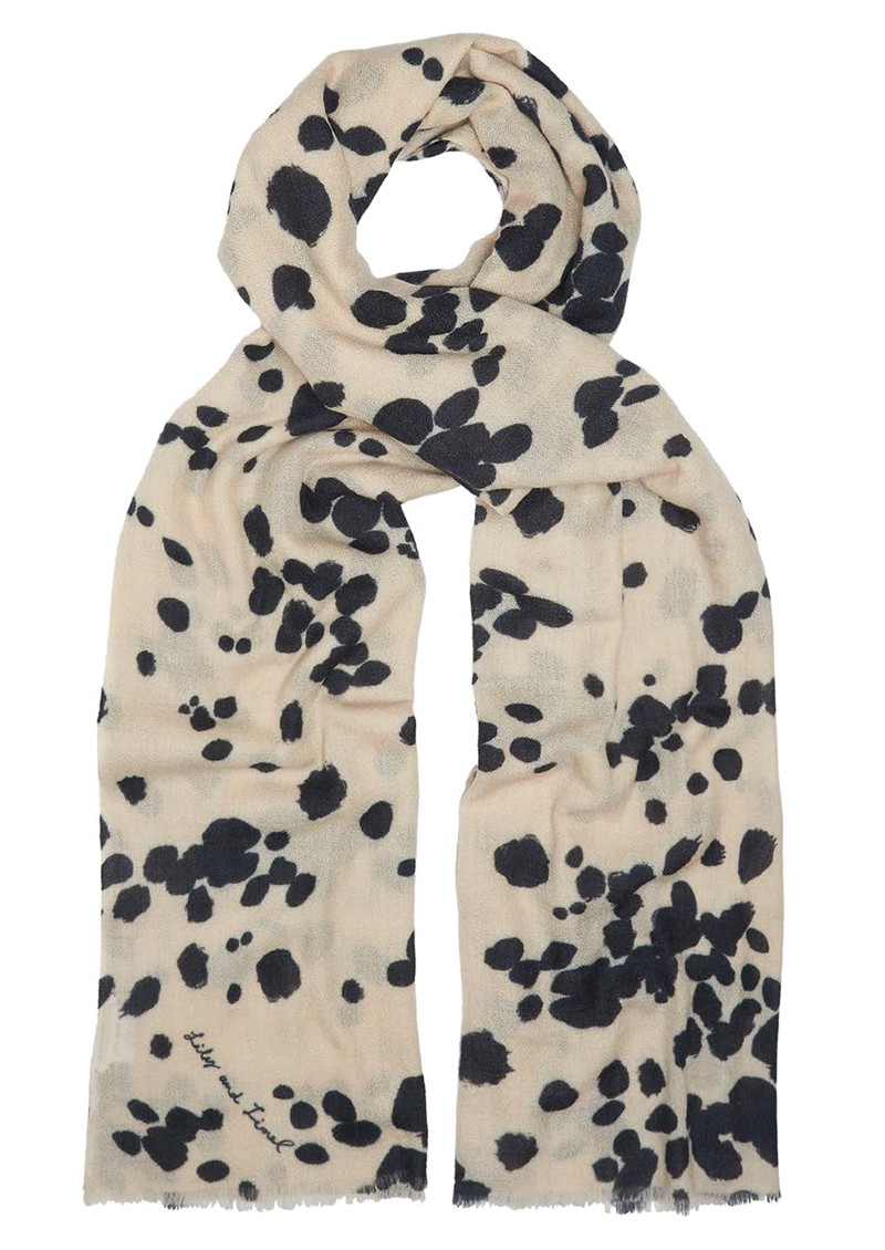 Lily and Lionel Dalmation Scarf - Black & Ivory main image