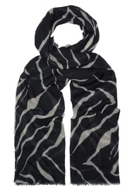 Lily and Lionel Tiger Silk Scarf - Black
