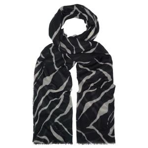 Tiger Silk Scarf - Black