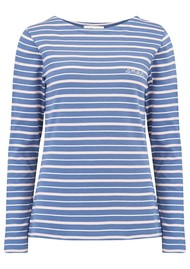 MAISON LABICHE Sailor Long Sleeve Amour Tee - Blue, Pink, Nautical