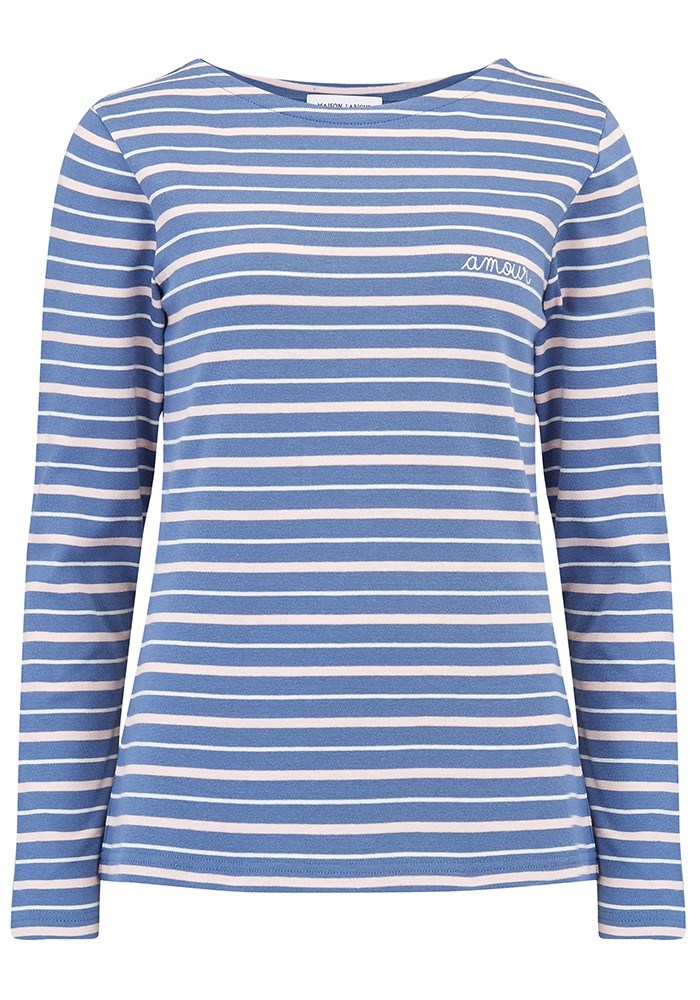 MAISON LABICHE Sailor Long Sleeve Amour Tee - Blue, Pink, Nautical main image