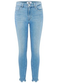 Paige Denim Hoxton Crop Ultra Skinny Fray Hem Jeans - Baybreak