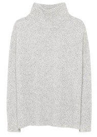 American Vintage Damsville Polo Neck Jumper - Heather Grey