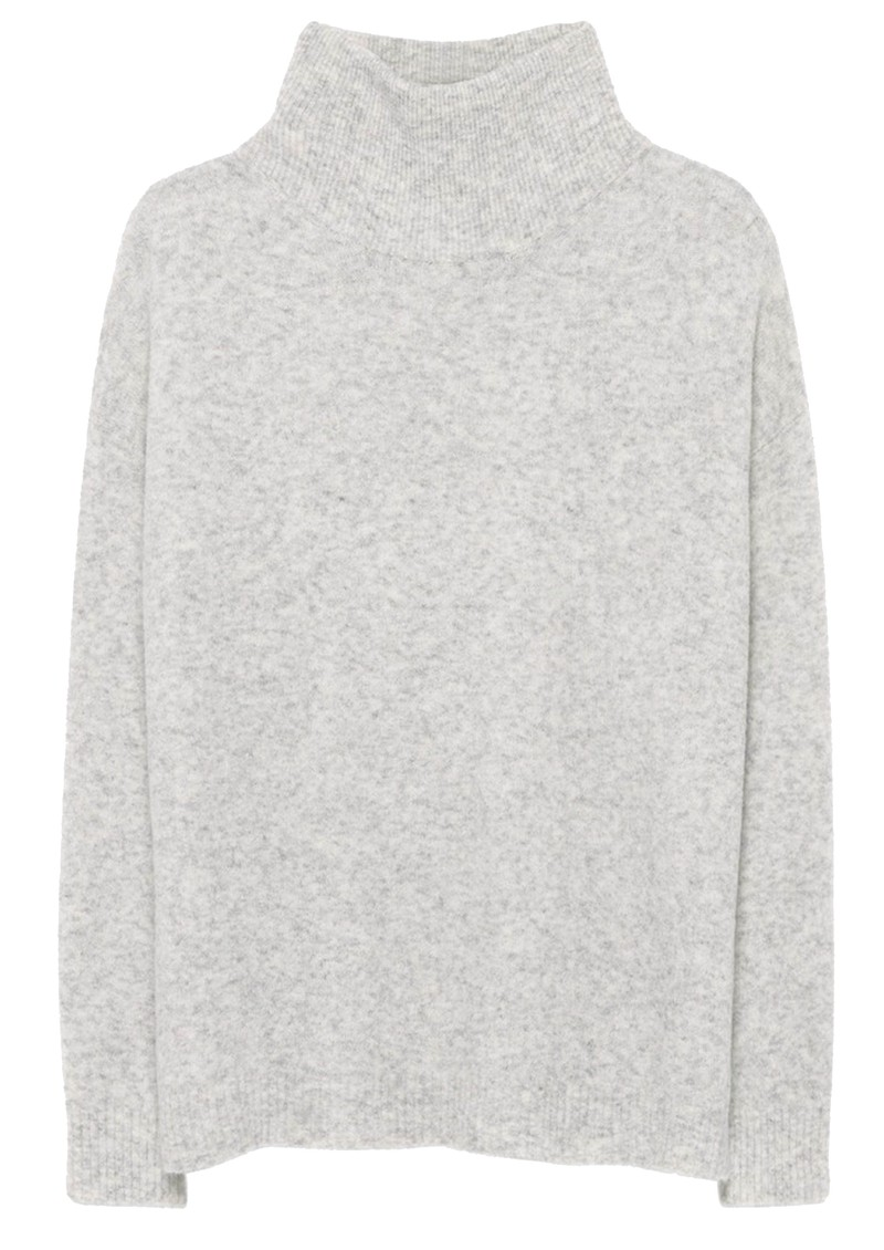 American Vintage Damsville Polo Neck Jumper - Heather Grey main image