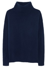 American Vintage Damsville Polo Neck Jumper - Night