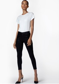 J Brand Alana High Rise Coated Skinny Jeans - Fearful