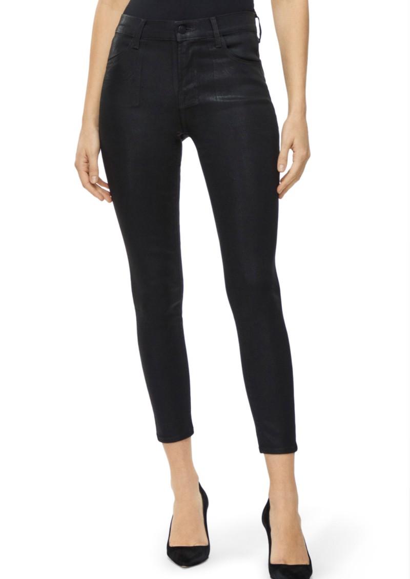 J Brand Alana High Rise Coated Skinny Jeans - Fearful main image