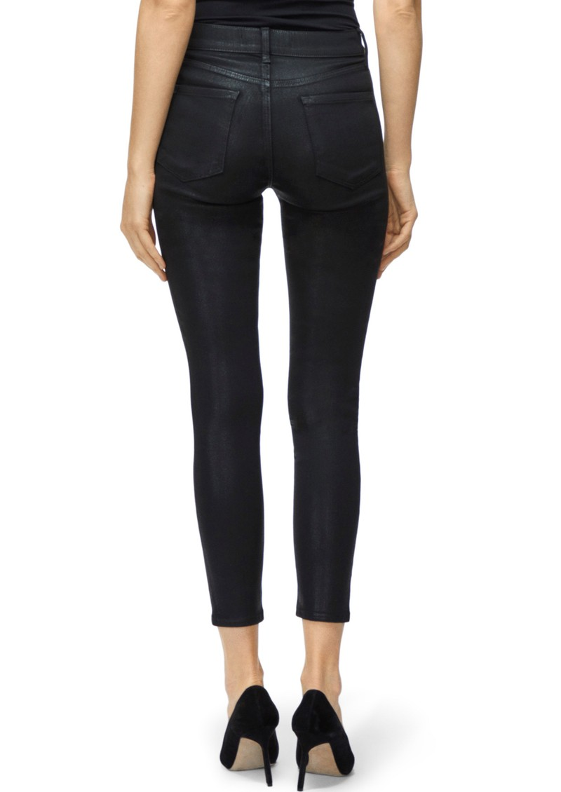 J Brand Alana High Rise Coated Skinny Jeans - Fearful main image