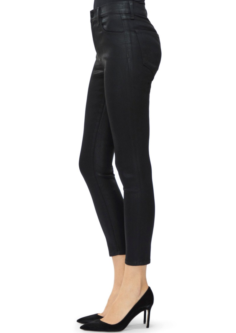 Alana High Rise Coated Skinny Jeans - Fearful main image