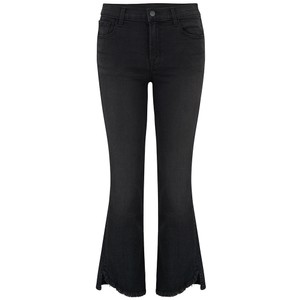 Selena Mid Rise Cropped Bootcut Jeans - Nevermore