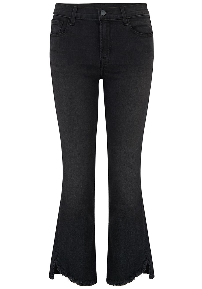 J Brand Selena Mid Rise Cropped Bootcut Jeans - Nevermore main image