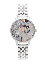 Olivia Burton Abstract Florals Bracelet Watch - Rose Gold & Silver