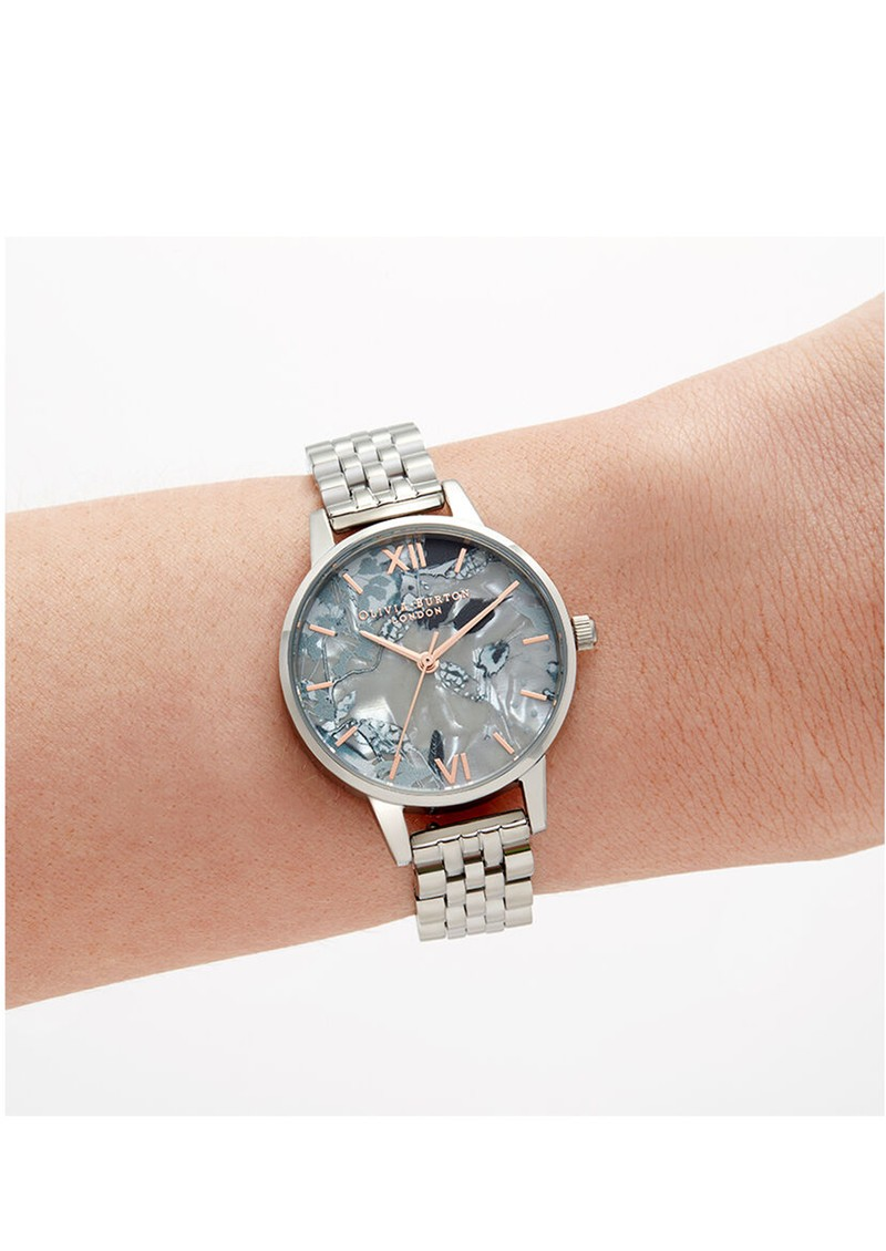 Olivia Burton Abstract Florals Bracelet Watch - Rose Gold & Silver  main image