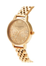 Olivia Burton Bejewelled Lace Bracelet Watch - Gold