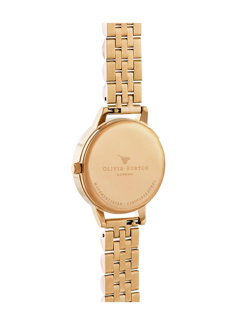 Olivia Burton Bejewelled Lace Bracelet Watch - Gold main image