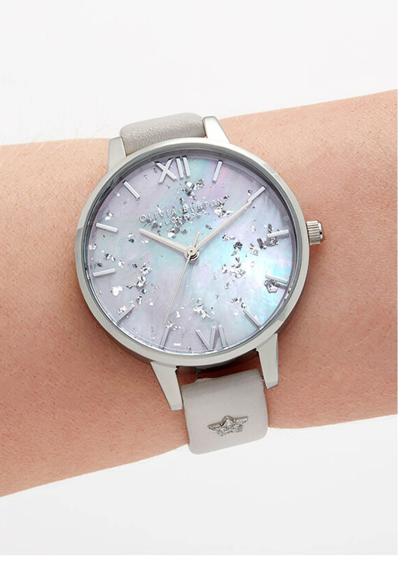 Olivia Burton Celestial Star Mother of Pearl Demi Dial Watch - Silver & Blush  main image