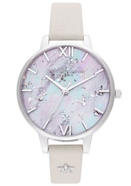 Olivia Burton Celestial Star Mother of Pearl Demi Dial Watch - Silver & Blush