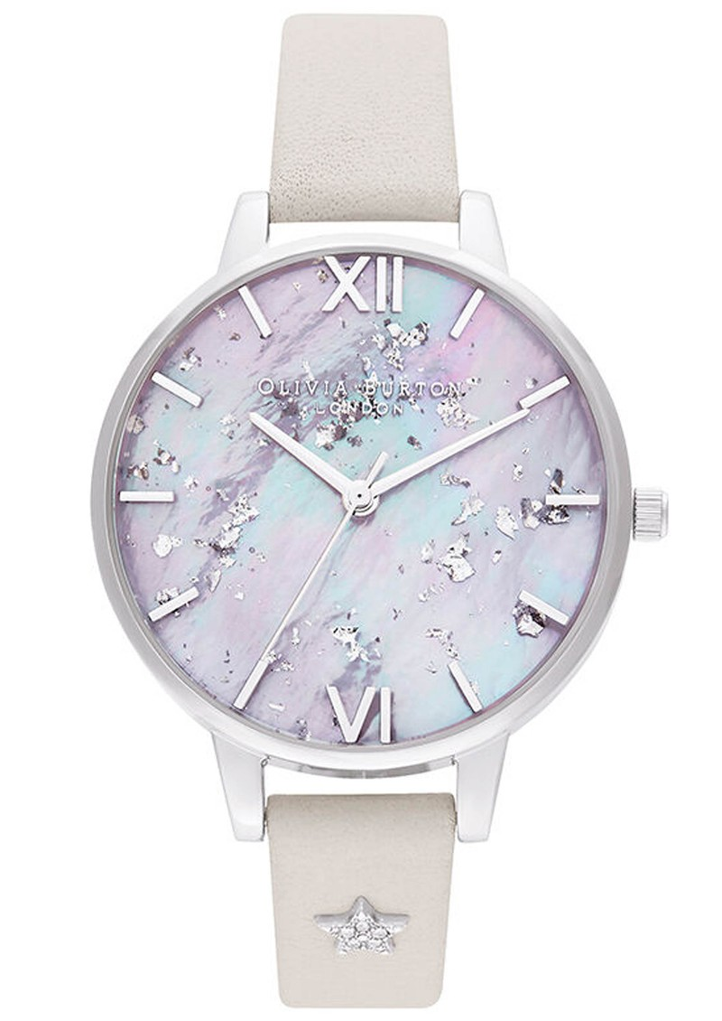 Celestial Star Mother of Pearl Demi Dial Watch - Silver & Blush  main image
