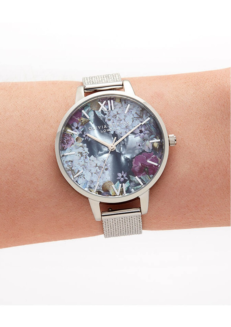 Under The Sea Demi Dial Boucle Mesh Watch - Silver main image