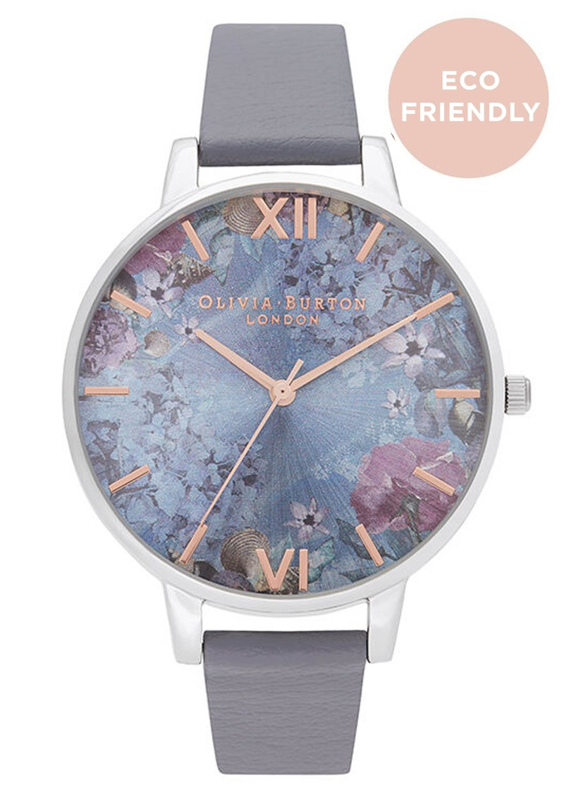 Olivia Burton Under The Sea Big Dial Eco Friendly Watch - Midnight & Silver main image