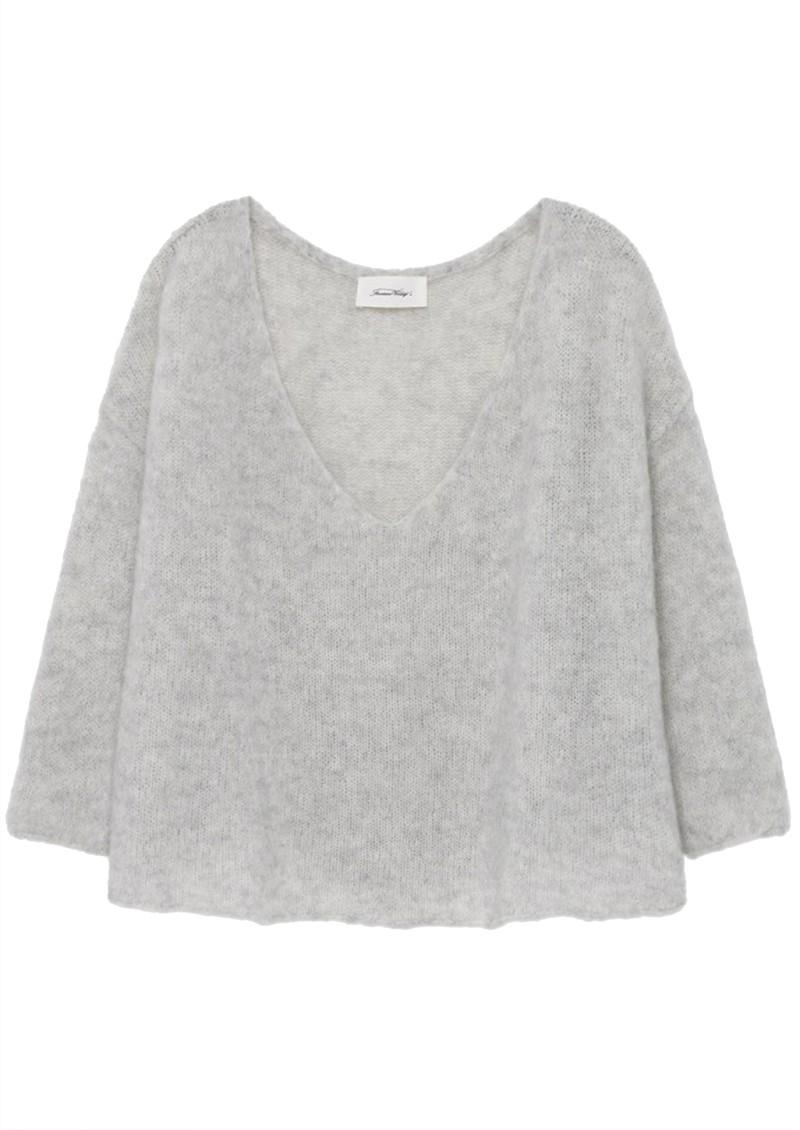American Vintage Vapcloud Pullover - Pearl Grey main image