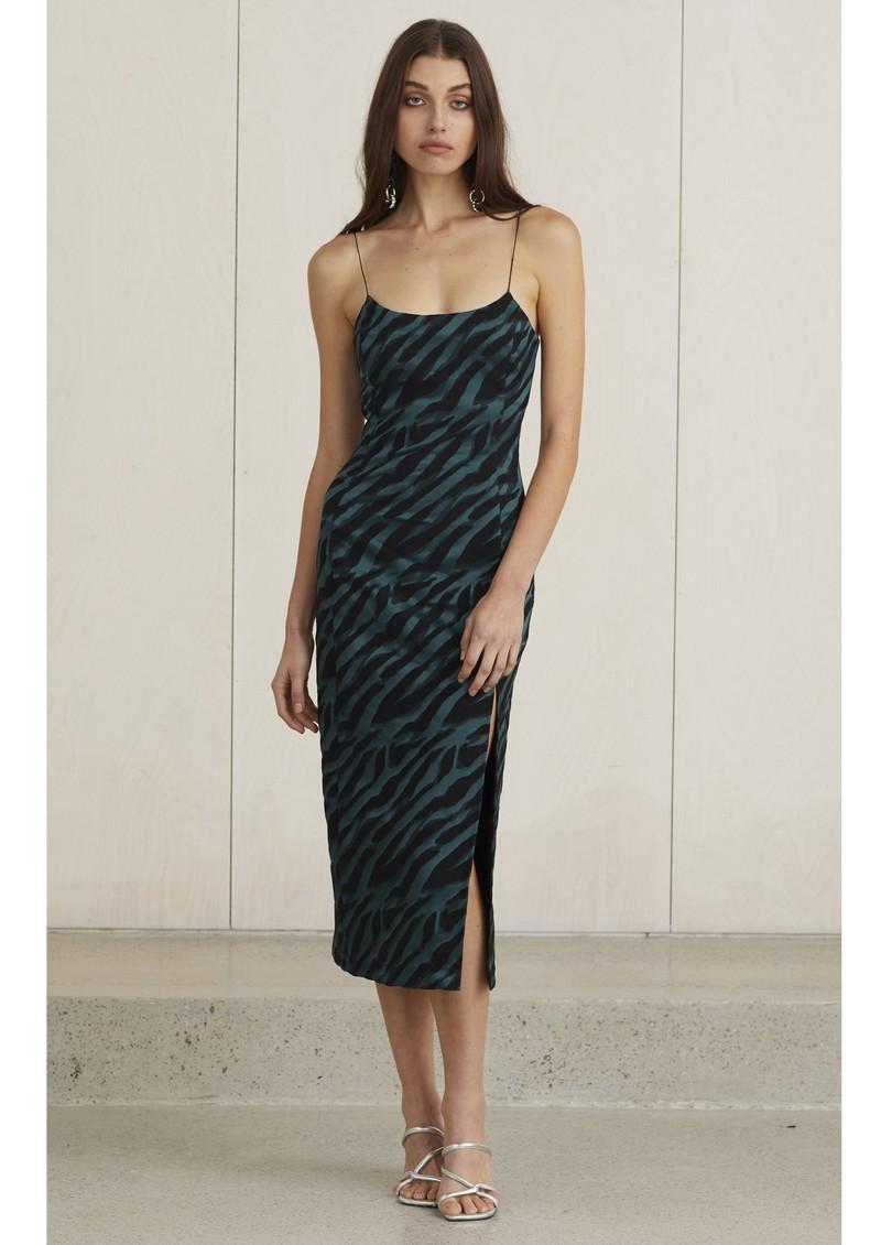 BEC & BRIDGE Discotheque Midi Dress - Emerald Zebra main image