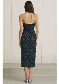 BEC & BRIDGE Discotheque Midi Dress - Emerald Zebra