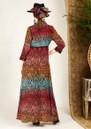 HAYLEY MENZIES Long Silk Shirt Dress - Ombre Croc