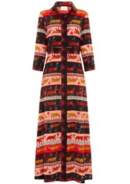 HAYLEY MENZIES Long Silk Shirt Dress - Tigress