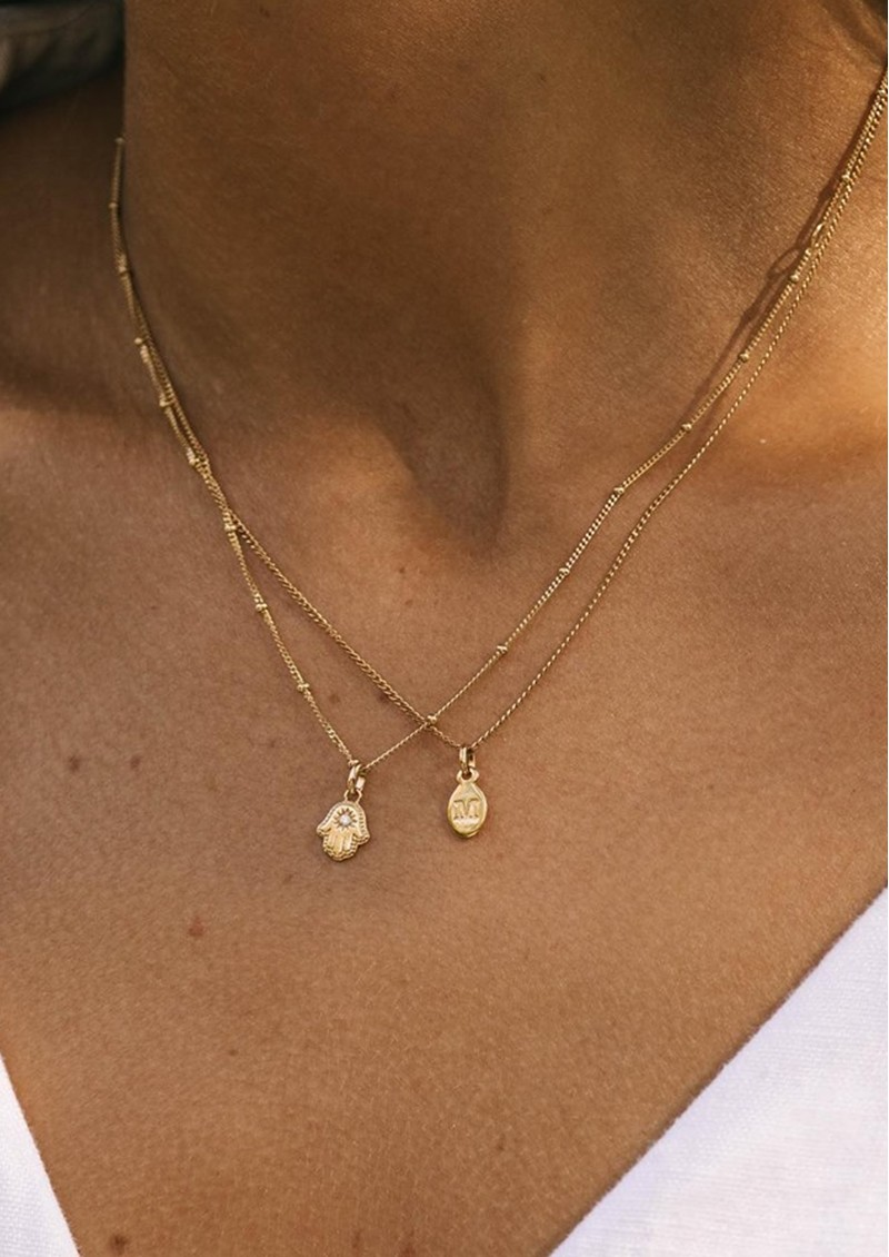 KIRSTIN ASH Bespoke Crystal Moon Charm - Gold main image