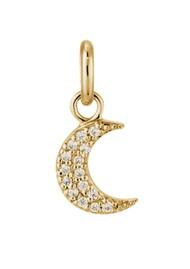 KIRSTIN ASH Bespoke Crystal Moon Charm - Gold