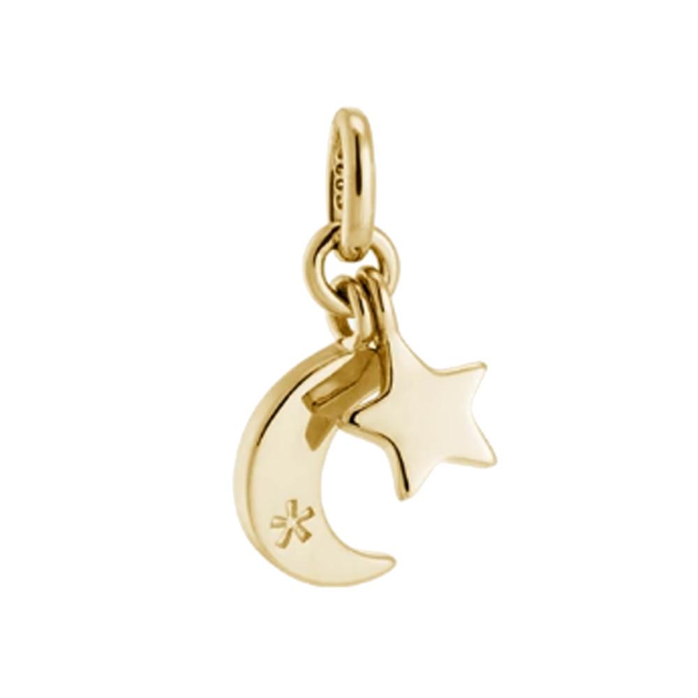 Bespoke Star Moon Double Charm - Gold