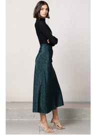 BEC & BRIDGE Animale Fever Silk Bias Skirt - Animal