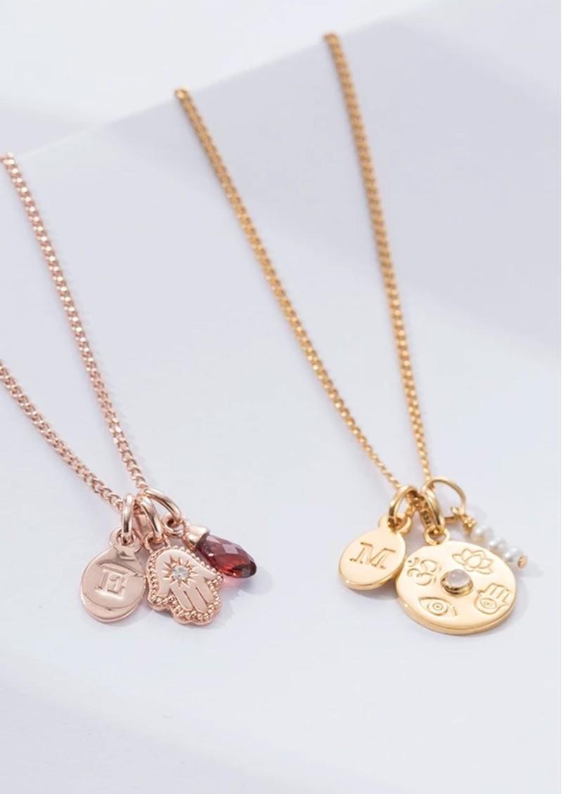 KIRSTIN ASH Bespoke Hamsa Hand Crystal Charm - Rose Gold main image