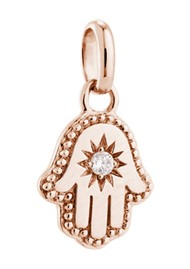 KIRSTIN ASH Bespoke Hamsa Hand Crystal Charm - Rose Gold
