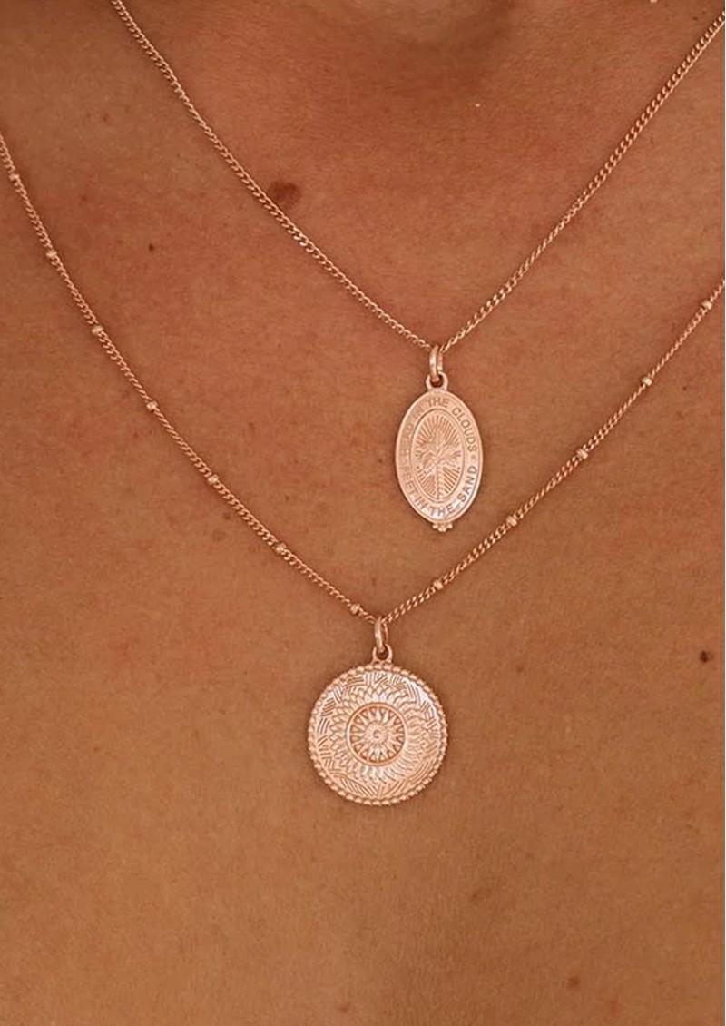 KIRSTIN ASH Bespoke Traveller Coin Charm - Rose Gold main image